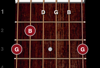 ChordBank can let you see the notes on the guitar