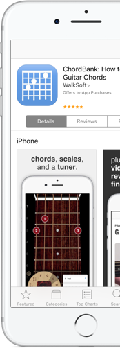 See why ChordBank is the one of the best reviewed guitar apps on the App Store